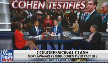 Fox News panel goes of the rails after Cohen hearing: 'I'm gonna throw you off the set'
