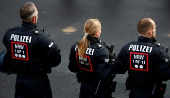 FILE PHOTO: Riot police are pictured during the presentation of the special police unit in Bochum, western Germany, February 4, 2019.