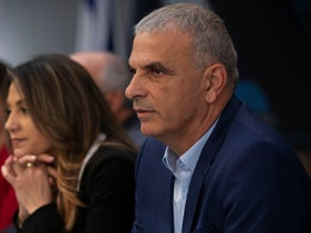 Finance Minister Moshe Kahlon and Construction and Housing Minister Yifat Shasha-Biton in Tel Aviv, February 2019