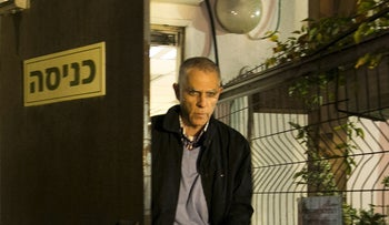 Yedioth Ahronoth publisher Arnon Mozes after being questioned in one of the Benjamin Netanyahu corruption cases, 2017.