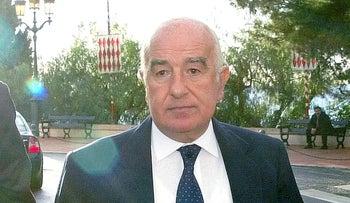 FILE PHOTO: Joseph Safra in Monaco, Thursday November 21, 2002.