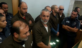 Six prisoners rearrested by Israel after Shalit deal in a district court, Nazareth, Israel, March 3, 2019.