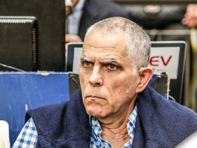 Arnon Mozes watches a basketball game in Tel Aviv, January 17, 2019.