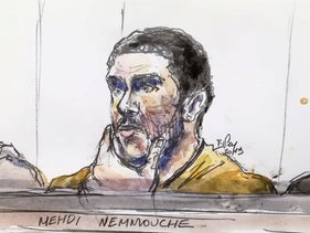 File photo: A court sketch shows Mehdi Nemmouche, accused of the terrorist attack at the Jewish Museum in Brussels in 2014, during his trial at the Brussels Justice Palace, January 10, 2019.