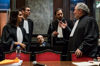 File photo: Lawyers wait for the start of the trial of Mehdi Nemmouche at Brussels' Palace of Justice, Belgium, February 28, 2019.