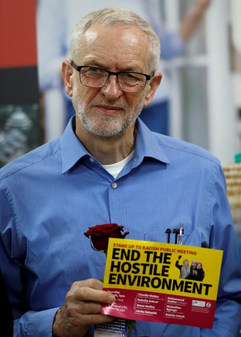Labour Party leader Jeremy Corbyn during a visit to Finsbury Park Mosque, London, Britain, March 3, 2019.