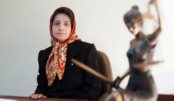 Iranian human rights lawyer Nasrin Sotoudeh in November 2008.