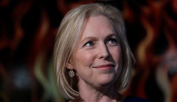 Sen. Kirsten Gillibrand, Democrat of New York, speaking during a meet-and-greet with local residents, February 18, 2019, in Cedar Rapids, Iowa.