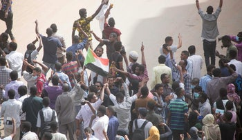 File photo: Sudanese demonstrators march during an anti-government protest in Khartoum, Sudan, February 7, 2019.
