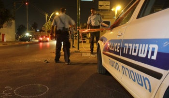 FILE PHOTO: An Israel Police car