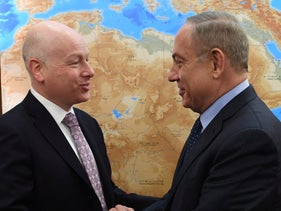 Donald Trump's Mideast envoy Jason Greenblatt meets Israeli Prime Minister Benjamin Netanyahu in Jerusalem. March 13, 2017