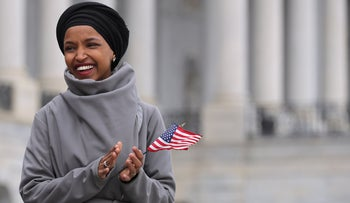 Congresswoman Ilhan Omar on the East Steps of the U.S. Capitol, Washington D.C., March 8, 2019.