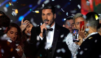 Kobi Marimi, Israel's representative for Eurovision 2019, after winning the 'Next Star' song contest, February 12, 2019.