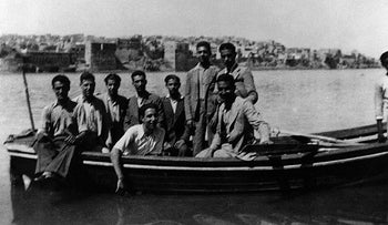 File photo: Young Iraqi Jews arriving in Israel after the Farhud.
