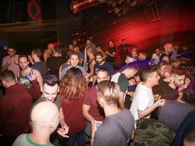 A busy night at Tel Aviv's new gay bar, La bohème.