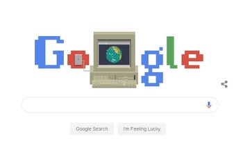Google celebrated the internet's thirtieth birthday with its Google doodle.