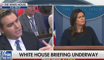 CNN's Acosta in heated exchange with White House's Sanders over Trump comments