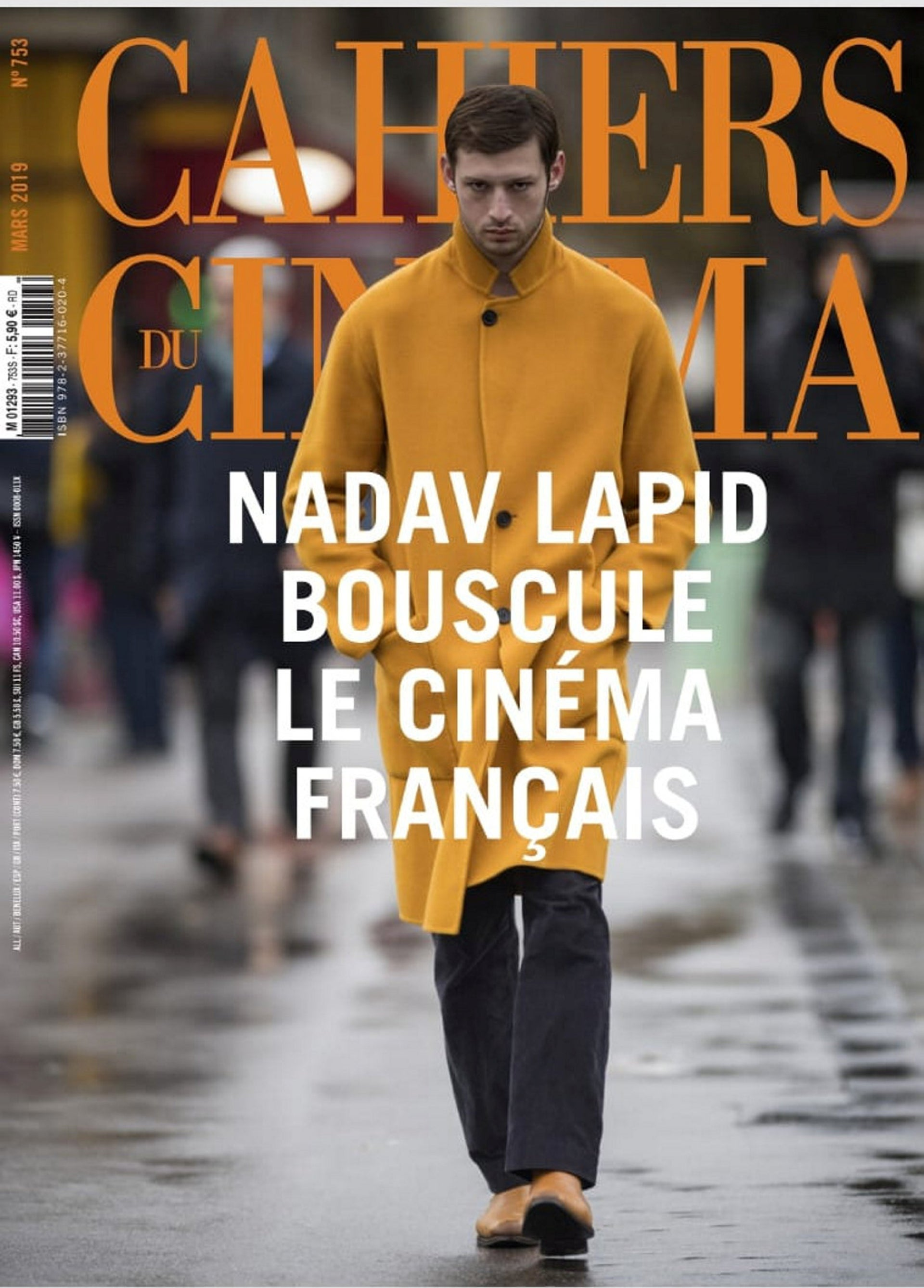 Mercier on the cover of the respected French film magazine 'Cahiers du Cinéma'.