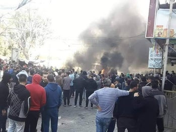 The protests in Gaza against high cost of living, March 15, 2019.