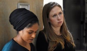 Chelsea Clinton attending a vigil held at NYU Kimmel Center to mourn for the victims of the Christchurch mosque attack in New Zealand, New York City, March 15, 2019.