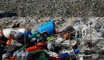 Plastic items and glass bottles to be sent abroad for recycling are seen at the Sant'Antnin Waste Treatment Plant, operated by Wasteserv Malta, in Marsascala, Malta February 28, 2019.