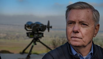 Senator Lindsey Graham at the Golan Heights on March 11, 2019.
