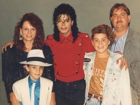 Michael Jackson with Wade Robson and his family.