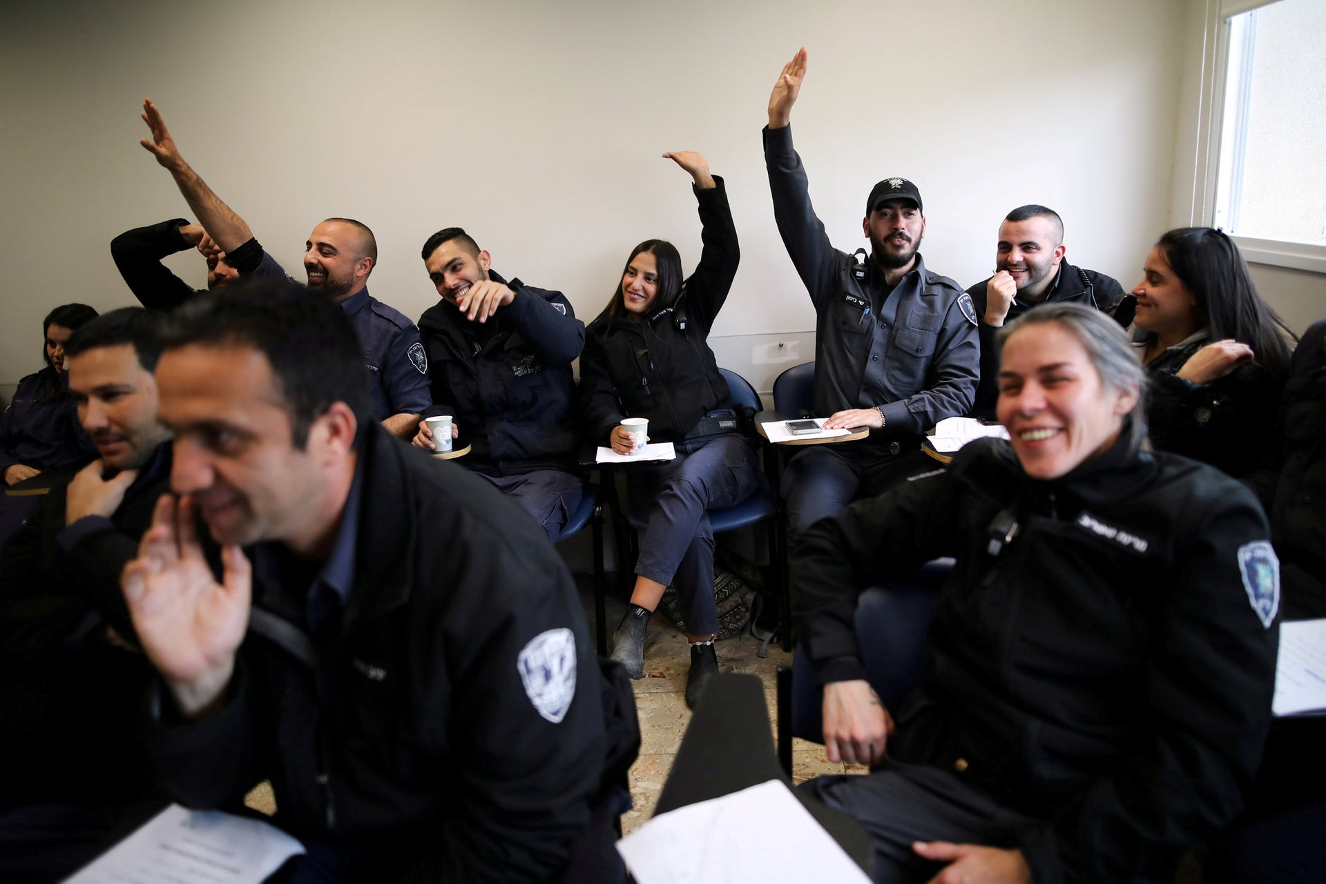 Everyway that I can assist you: Israeli police participate in a special training session ahead of the Eurovision Song contest which will be held in Tel Aviv in May.