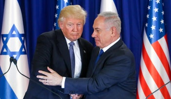 FILE PHOTO: Trump and Netanyahu during the former's visit in Israel, October 29, 2017