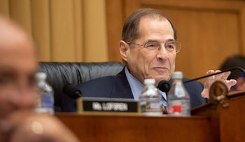 Representative Jerry Nadler speaks during a hearing on Capitol Hill in Washington, DC, February 8, 2019.