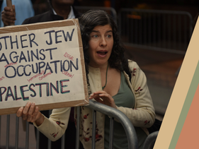 A Jewish protester demonstrating against the occupation.