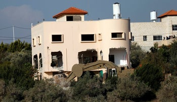 The IDF demolishing the family's home in December