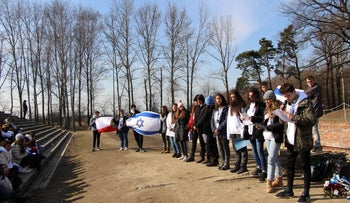 The joint Israeli-Polish ceremony in Auschwitz, March 2019
