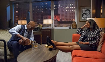 """Delroy Lindo and Audra McDonald in """"The Good Fight."""""""