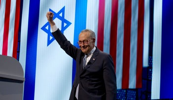 Senate Minority Leader Chuck Schumer, D-N.Y.,at the 2019 AIPAC policy conference, at Washington Convention Center in Washington, March 25, 2019.