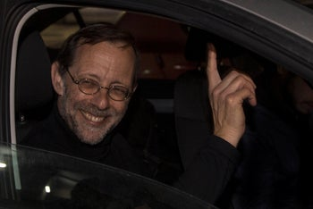 Zehut party leader Moshe Feiglin attending an election campaign event in Sderot, March 14, 2019.