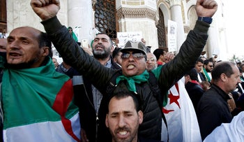 Military veterans protest to demand the resignation of President Abdelaziz Bouteflika and changes to the political system, in Algiers, Algeria March 28, 2019.
