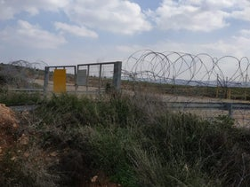 The separation barrier separating Palestinian residents from their agricultural land, Mateh Yehuda regional Council, Israel, March 27, 2079.