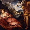 The Meeting of Tamar and Judah, Jacopo Tintoretto, painted some time between 1555 and 1558