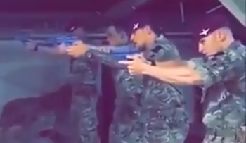 U.K. soldiers shooting at image of Labour leader Jeremy Corbyn