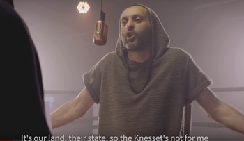 "Screengrab from Tamer Nafar's video ""Tamer Must Vote,"" released April 4, 2019."