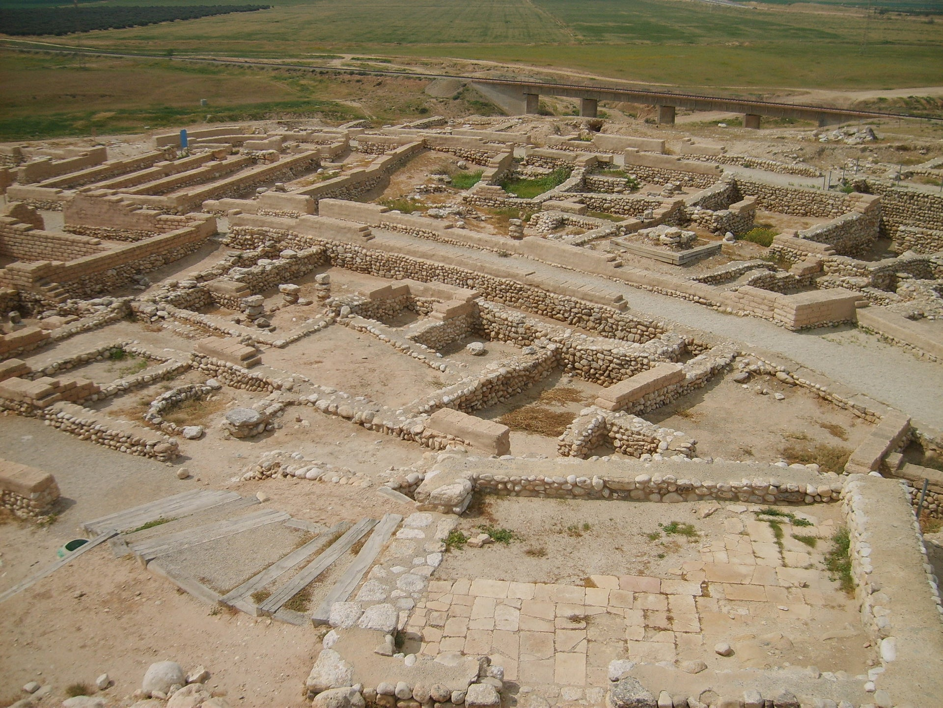 Tell Beer Sheva, to the south of the newly discovered village