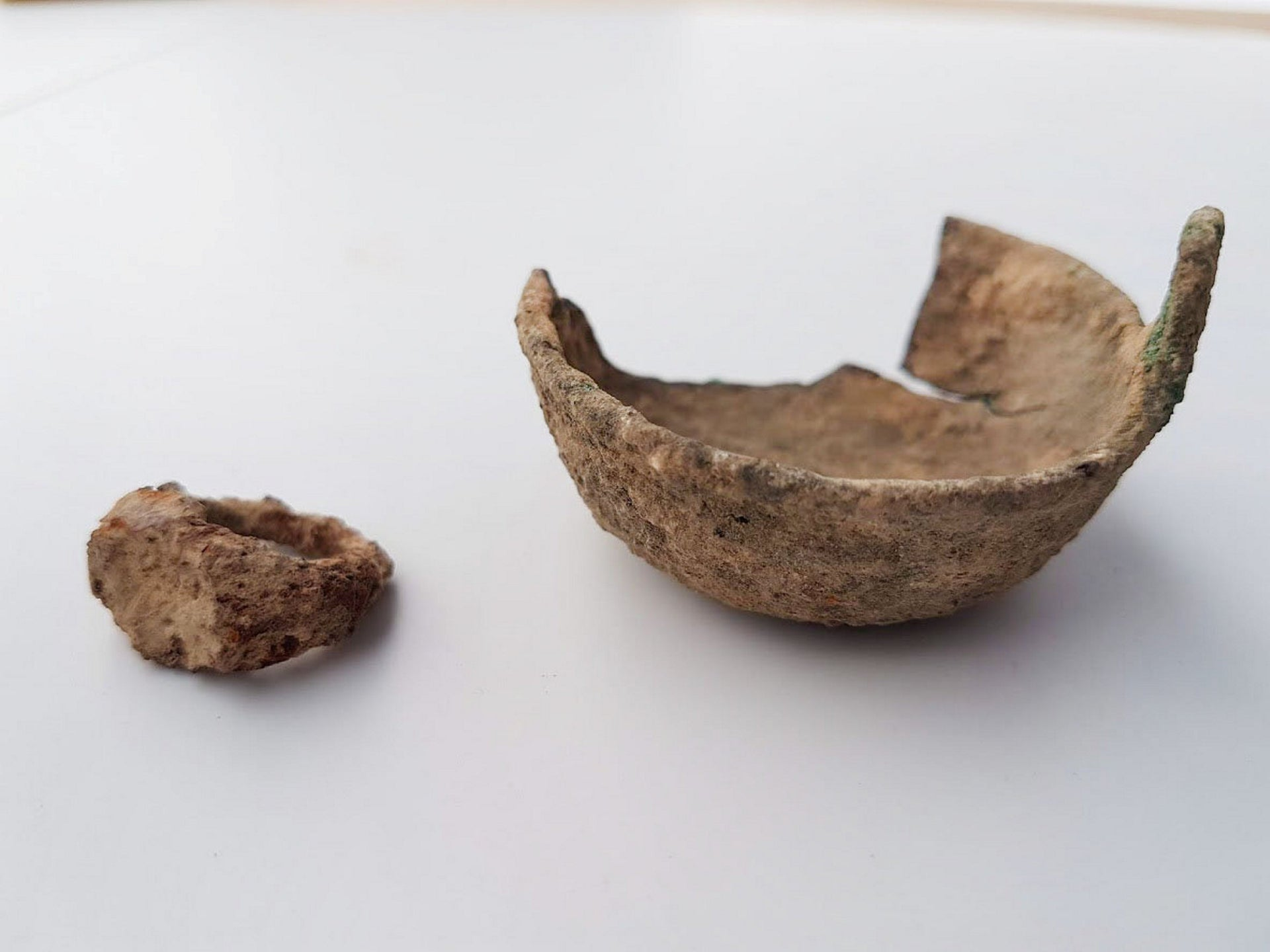 Typical Jewish vessels uncovered in the excavation