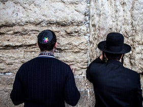 File photo: An LGBT Jewish delegation to Israel visits the Western Wall in Jerusalem, May 5, 2016.