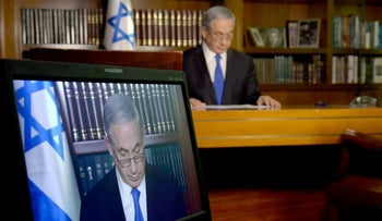 Prime Minister Benjamin Netanyahu during a interview to CBS network at his office in Jerusalem.