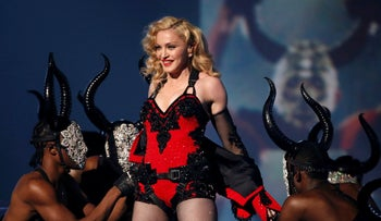 File photo: Madonna performs 'Living for Love' at the 57th annual Grammy Awards in Los Angeles, California February 8, 2015.