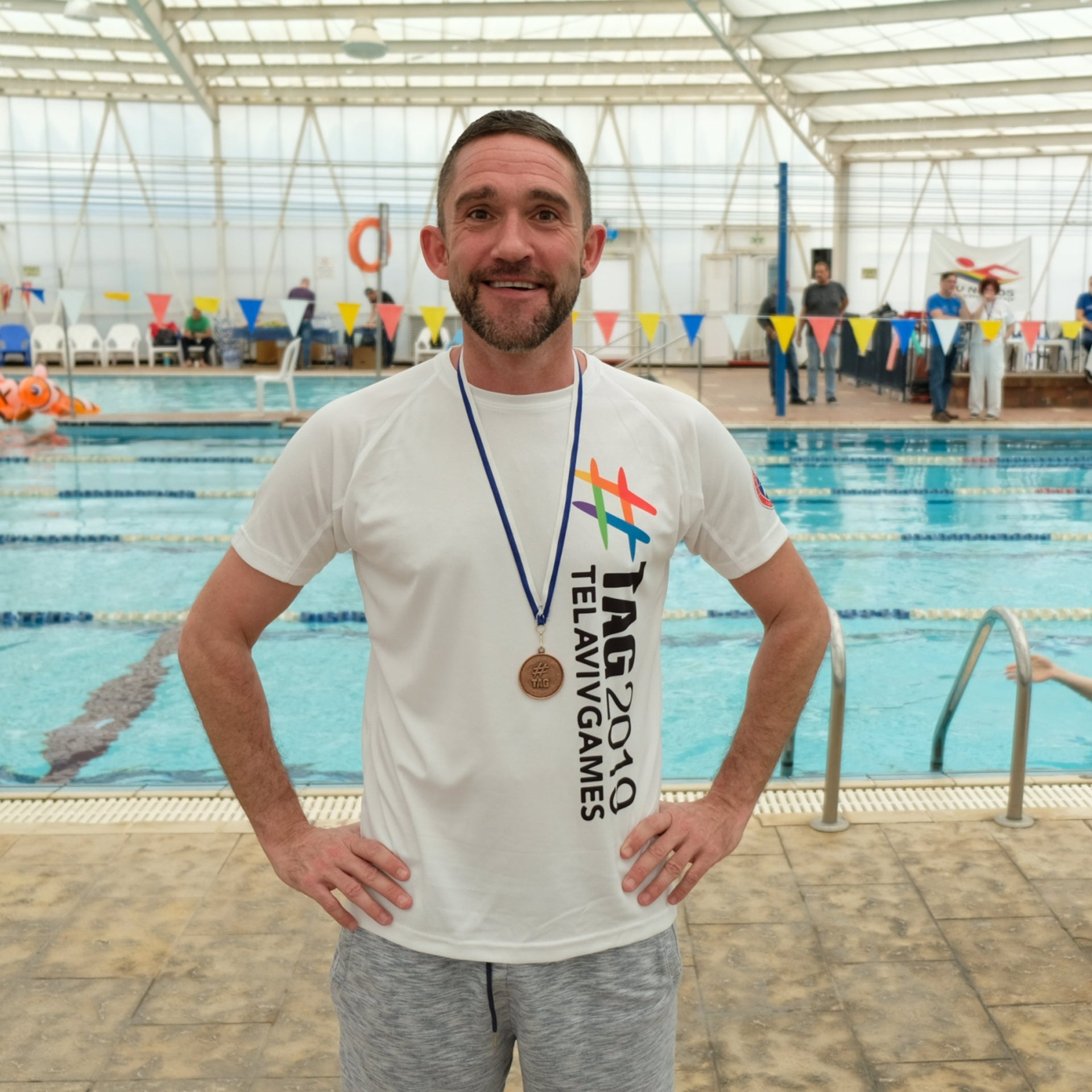 Tim van Hauwermeiren, who came to the games with the BGS gay swim team from Brussels.