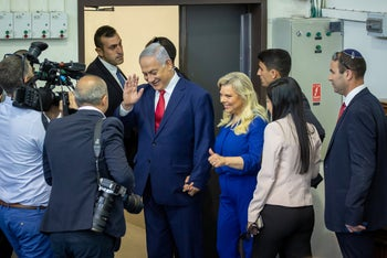 Israel election 2019: The Netanyahus voting in Jerusalem, in the morning