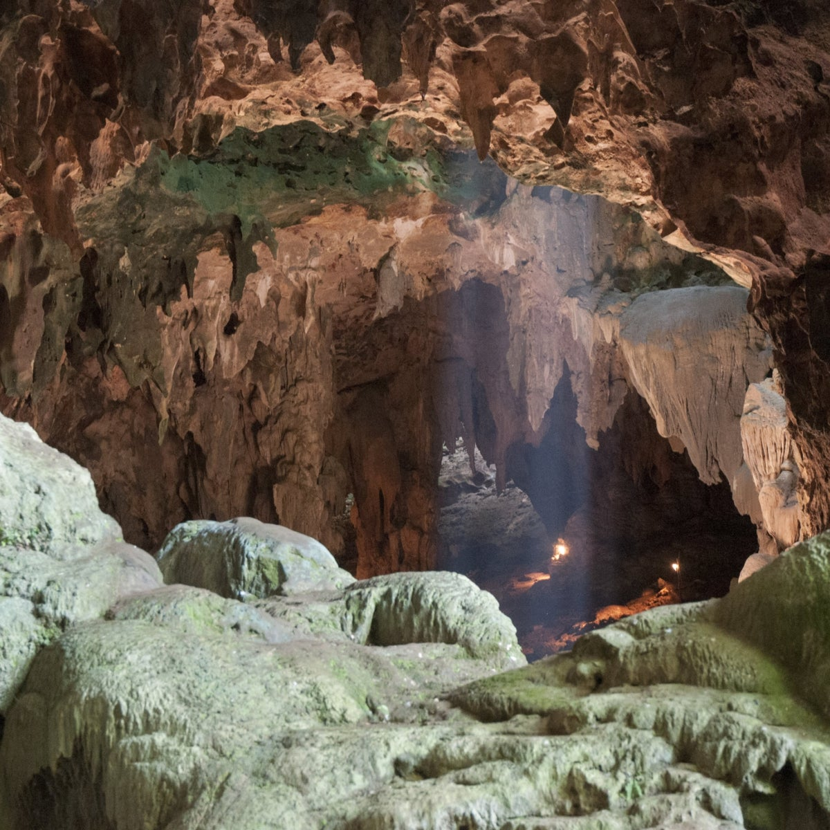 The cave where Homo luzonensis remains were found on the island of Luzon in  the Philippines