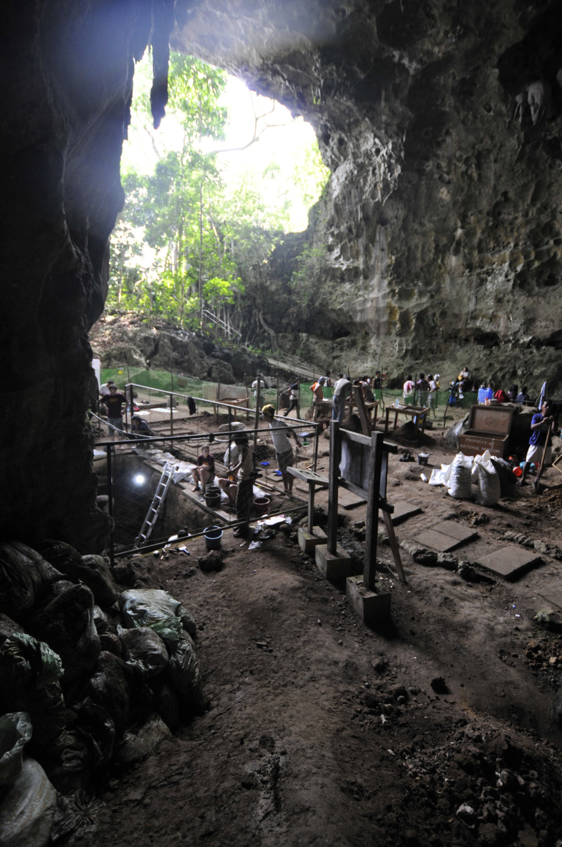 View from the interior of Callao Cave